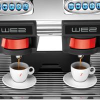 שתי יחידות חליטת קפה במכונת We2
