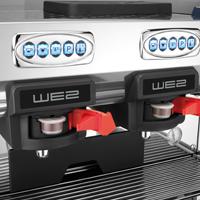 שני פאנלים מוארים נפרדים במכונת הקפה we2